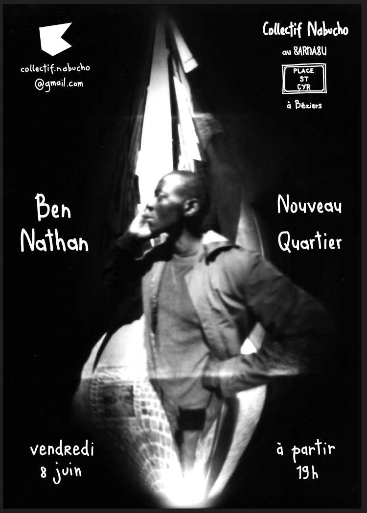 🍺 Nouveau quartier @ Barnabu, Béziers 🍺  8th June 2018 / 19:00 – 23:00  Ben Nathan, artist in residence at the Collective Nabuchodonosor, invites you to his exhibition 'Nouveau Quartier' at Barnabu.  All the portraits are taken on St-Cyr square in the St-Jacques neighbourhood of Béziers. Ben converted a beer can into a pinhole camera to take the portraits. The prints were produced in the dark room installed in the cellar of Barnabu.  Please join us on the 8th of June for the opening of the exhibition. The exhibition will be open Wednesdays from 15:00 - 21:00 and Fridays from 18:00 - 23:00, until the Grand Nabucho, which takes place on the 23rd of June.  #stenopebeziers